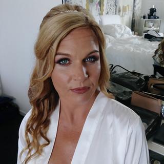 Half-up Do & Airbrush Makeup