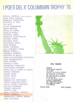 X° COLUMBIAN TROPHY '76