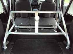 Fabricated Jeep Tire rack