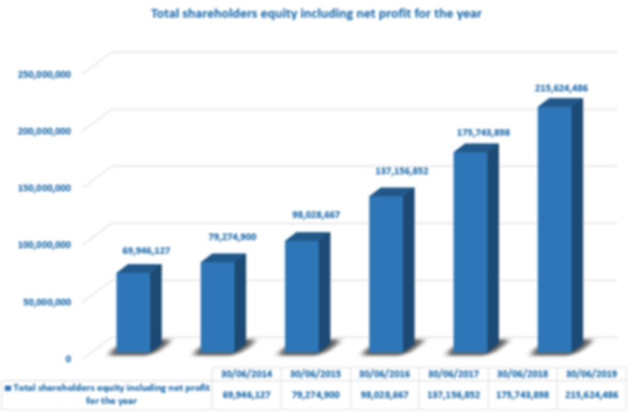Total shareholders' equity including net