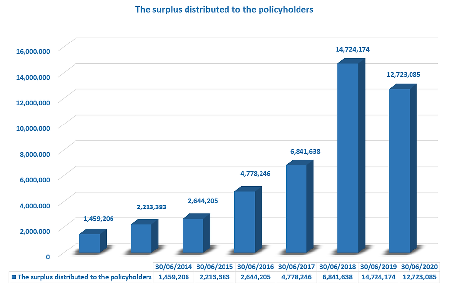 The surplus distributed to the policyhol