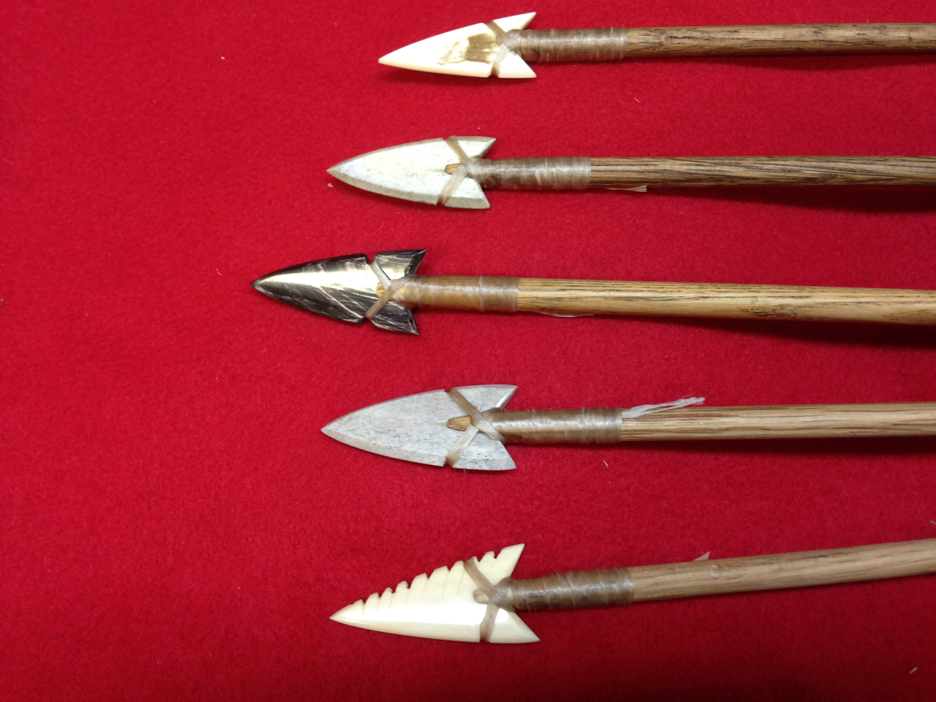 Antler and Bone Arrows