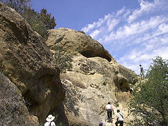 Rock Art site in Pleito Canyon on the Wind Wolves Preserve