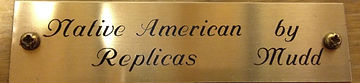 Native American Replicas by Mudd brass plaque