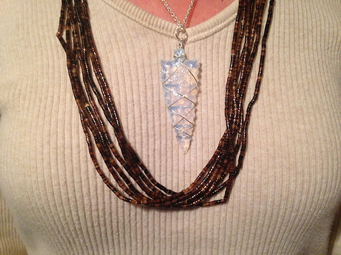 Opalite Arrowhead Necklace