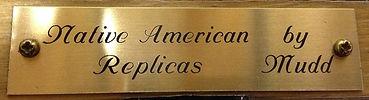 Native American Replicas by Mudd brass plaque