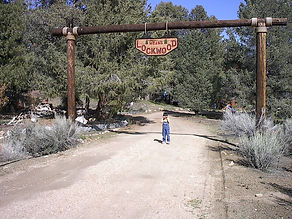"Entry to the Means ""Lockwood Ranch"" in Lockwood Valley, California"