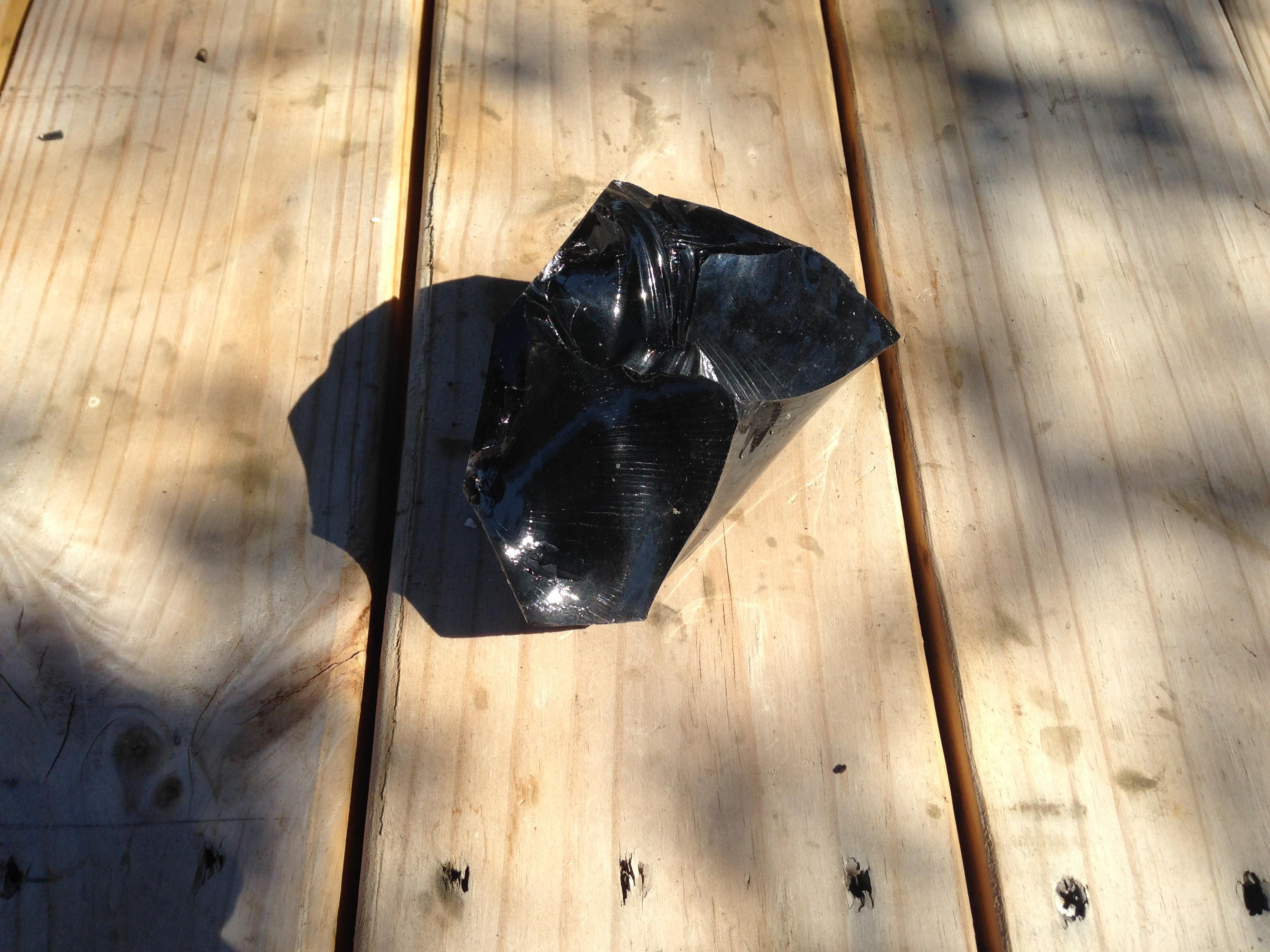 Obsidian scrap piece