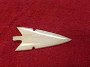 Cow bone arrowhead