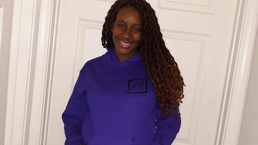 Purple Hoodie with Black Logo