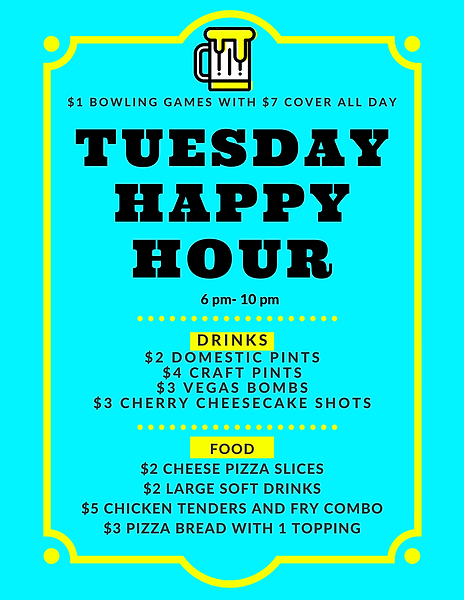 Copy of Teal Bordered Happy Hour Poster.
