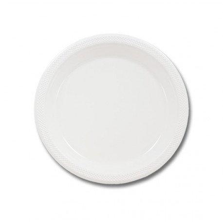 Plato Blanco 17 cm x50