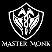 Master Monk Logo with Words - Black back