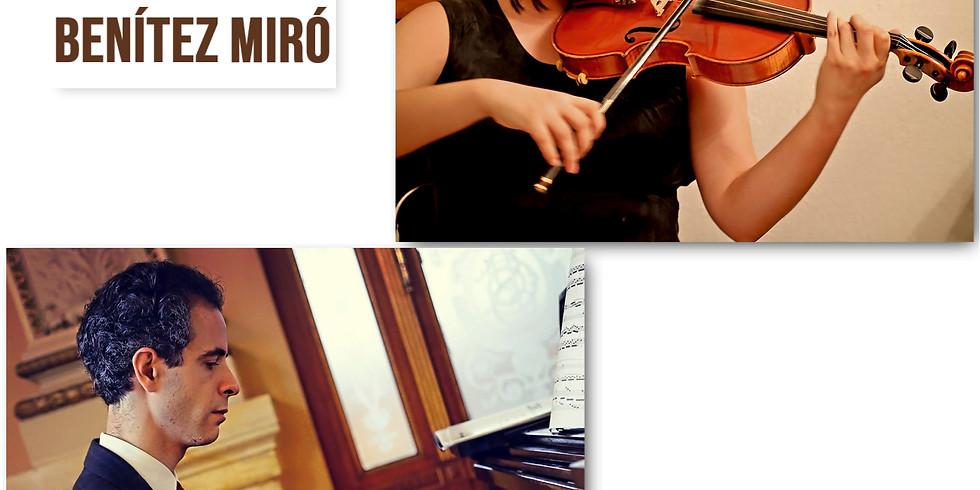 Recital de violín y piano   Dúo Benítez Miró