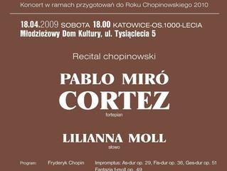 Recital chopinowski | 18.04.2009 | Pablo Miró Cortez | Katowice, Polska