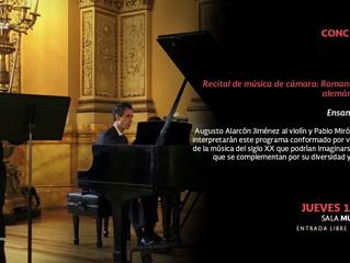 Recital de música de cámara | 13 de diciembre 2018 | Fonoteca Nacional | Ciudad de México
