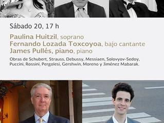 Recital de viola y piano | 21 de octubre 2018 | Sala Manuel M. Ponce - Palacio de Bellas Artes, CDMX