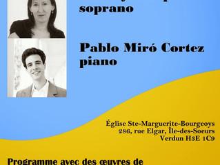 Récital de chant | 15 janvier 2014, 18h00 | Verdun (QC), Canada