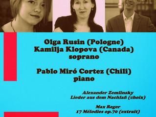 Récital de chant | 3 avril 2014 | Trois-Rivières (QC), Canada