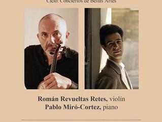Recital de violín y piano | 5 de agosto 2018 | Antiguo Palacio del Arzobispado, CDMX