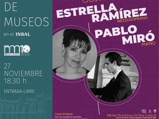 Recital de canto y piano | 27 de noviembre 2019 | Museo Nacional de San Carlos, Ciudad de México