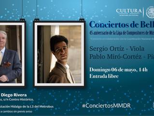 Recital de viola y piano | 6 de mayo 2018 | Museo Mural Diego Rivera, CDMX