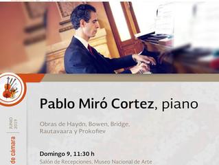 Recital de piano | 9 de junio 2019 | Museo Nacional de Arte, CDMX