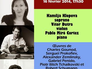 Récital de musique de chambre | 16 février 2014 | Montréal (QC), Canada