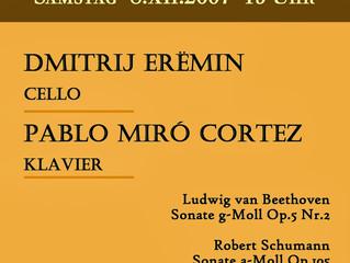 Celloabend | 08 Dezember 2007 |Dmitrij Erëmin & Pablo Miró Cortez - Landau in der Pfalz