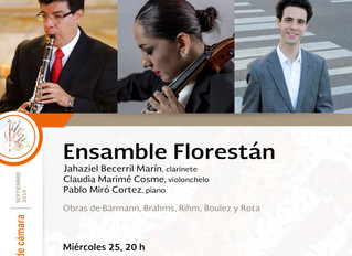 Recital de música de cámara | 25 de septiembre 2019 | Museo Nacional de Arte, CDMX
