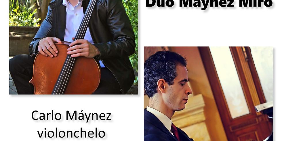 Sábados en concierto en el Teatro Xicohténcatl, Tlaxcala   Dúo Máynez Miró (violonchelo y piano)