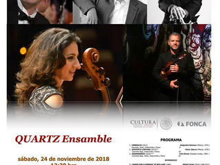 Recital de música de cámara | QUARTZ Ensemble | 24 de noviembre 2018 | Museo Universitario Arte Cont