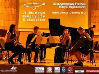 24. Dni Muzyki Kompozytorów Krakowskich | 26 maja – 3 czerwca 2012 | Kraków, Polska