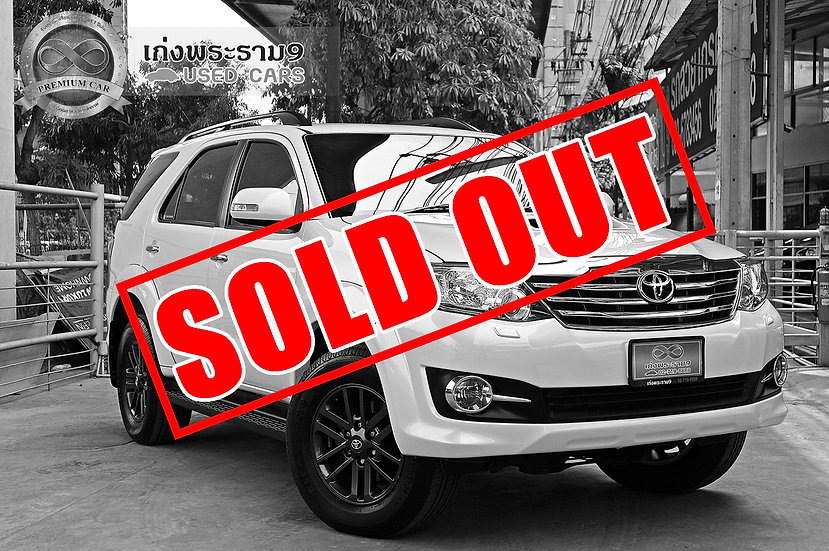 TOYOTA NEW FORTUNER 3.0 [V] 4WD สีขาว ปี 2015