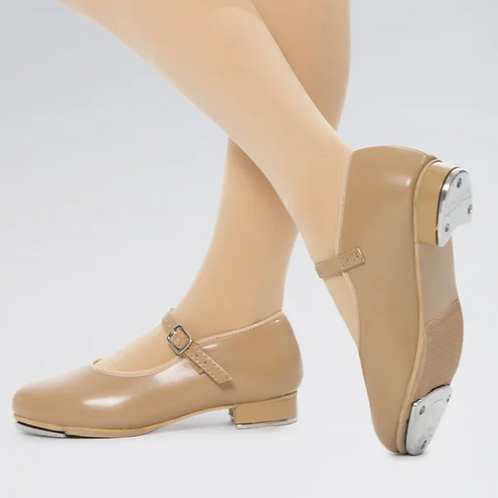 Tan Buckle Tap Shoes