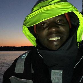 Eddy from Uganda at the tiller