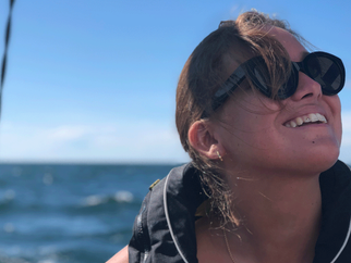 Visby – setting sails with Dessi and Camilla.