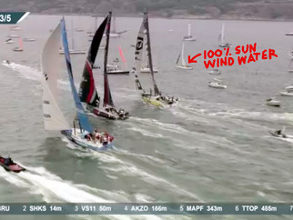 Arriving at the Volvo Ocean In-Port Race