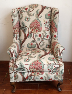 BOTANICAL WING BACK  CHAIR