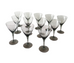 SMOKE GREY CORDIAL GLASSES (12) $225