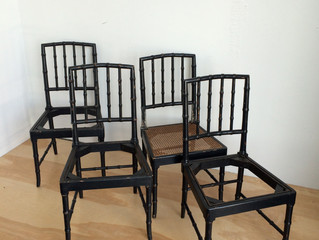 BAMBOO DINING CHAIRS (4) $250