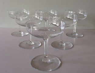 BACCARAT COUPE CHAMPAGNE GLASSES (6) $1,200