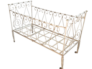 ANTIQUE IRON CRIB $1125