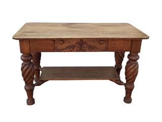 CARVED OAK DESK   $750