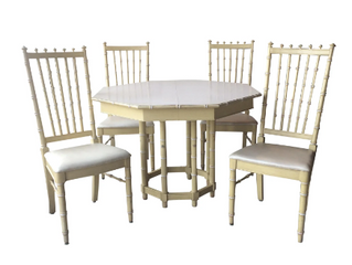 190126 FAUX BAMBOO DINING SET $450.00
