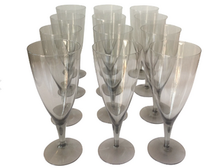 SMOKE GREY WATER GLASSES (12) $225