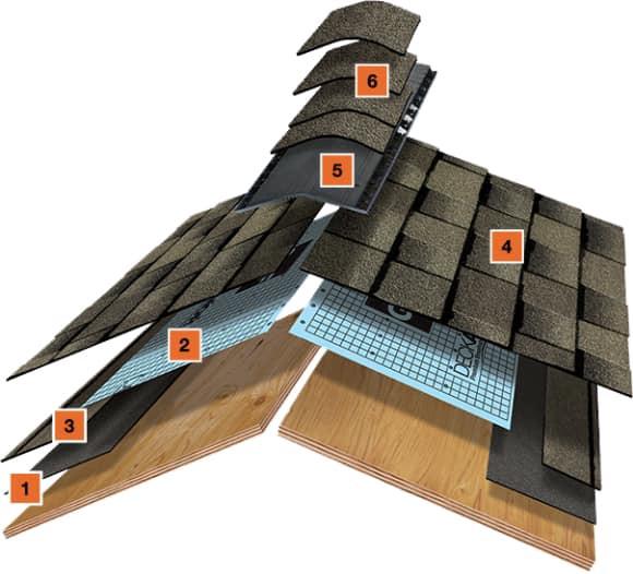 Shingle Roof Illustration