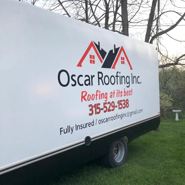 Oscar Roofing, Inc. Box Truck