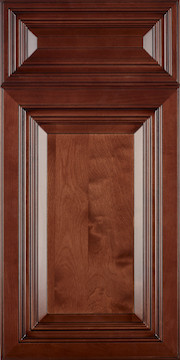This Is A Door Sample Cherry Stain With Black Glaze On Maple Full Overlay Design Solid Raised Panel Style 5 Piece Drawer Front Dovetail