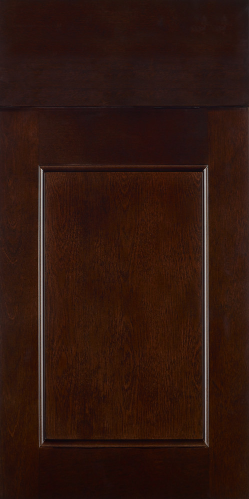 This Is A Door Sample Espresso Stain On Maple Full Overlay Design Recessed Panel Style 5 Piece Or Slab Top Drawer Front